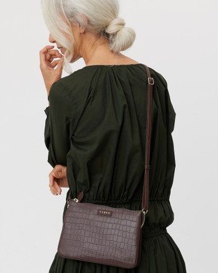 Saben Tilly's Big Sis Leather Cross body Bag Handbags Brown Cross-body