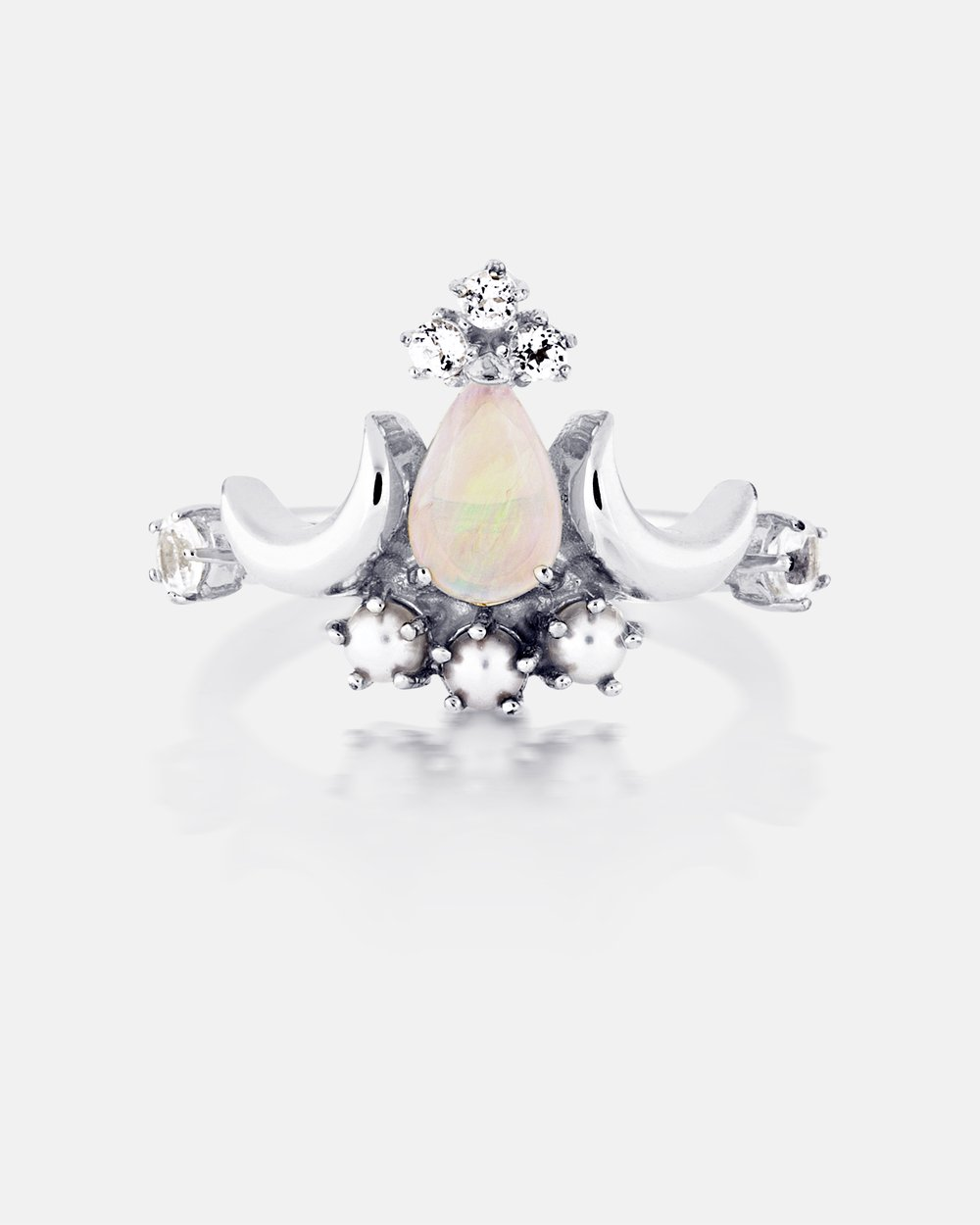 madly-wildly-white-opal-pearl-diamond-silver-ring by au-revoir-les-filles