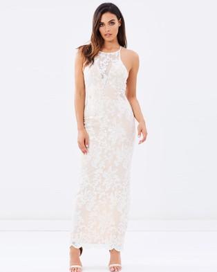 Romance by Honey and Beau – White Magic Maxi Dress Blush