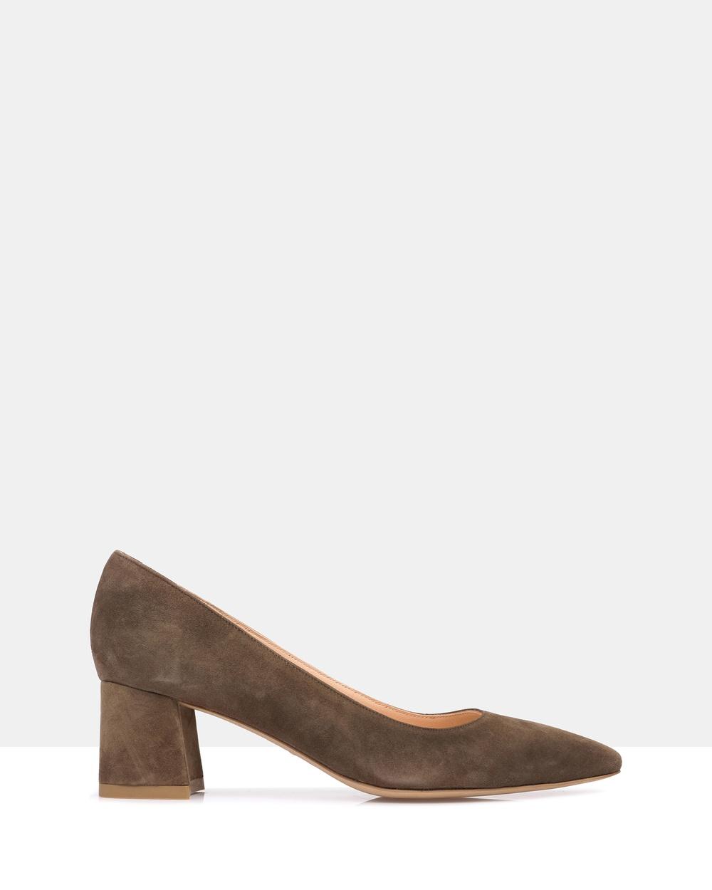 Sempre Di Toga Heels Mid-low heels 208 Khaki Toga Heels