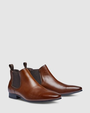 Tarocash New Action Gusset Boots - Dress Shoes (TAN)