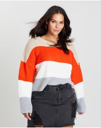 Missguided Curve - Crew Neck Striped Jumper