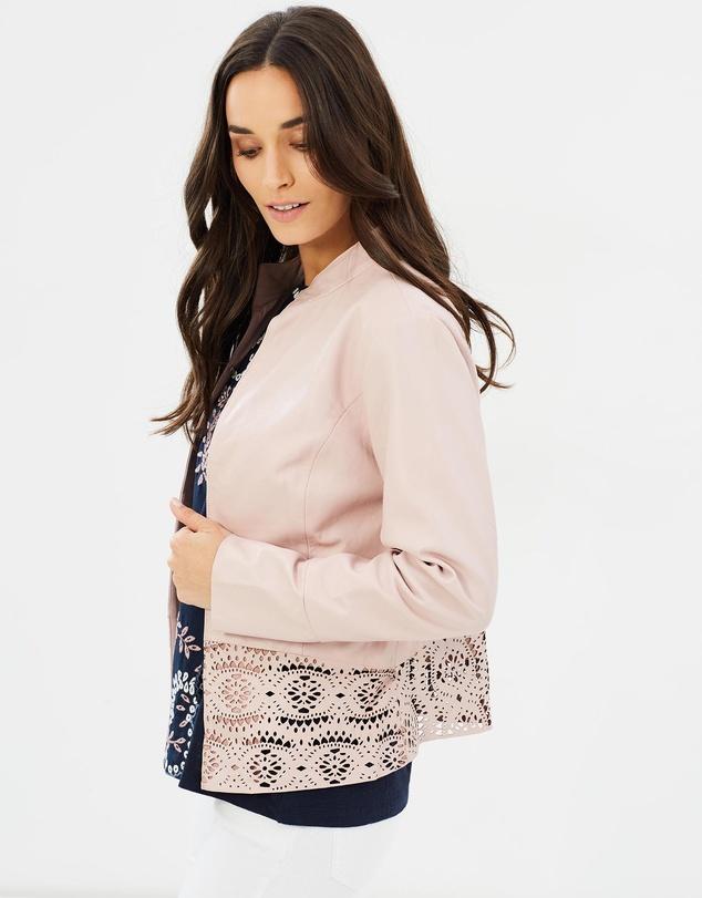 Women VERA - Leather Jacket Rose