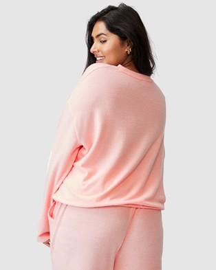 Cotton On Curve - Super Soft Draw Cord Crew Sweats (Fairy Tale Marle)