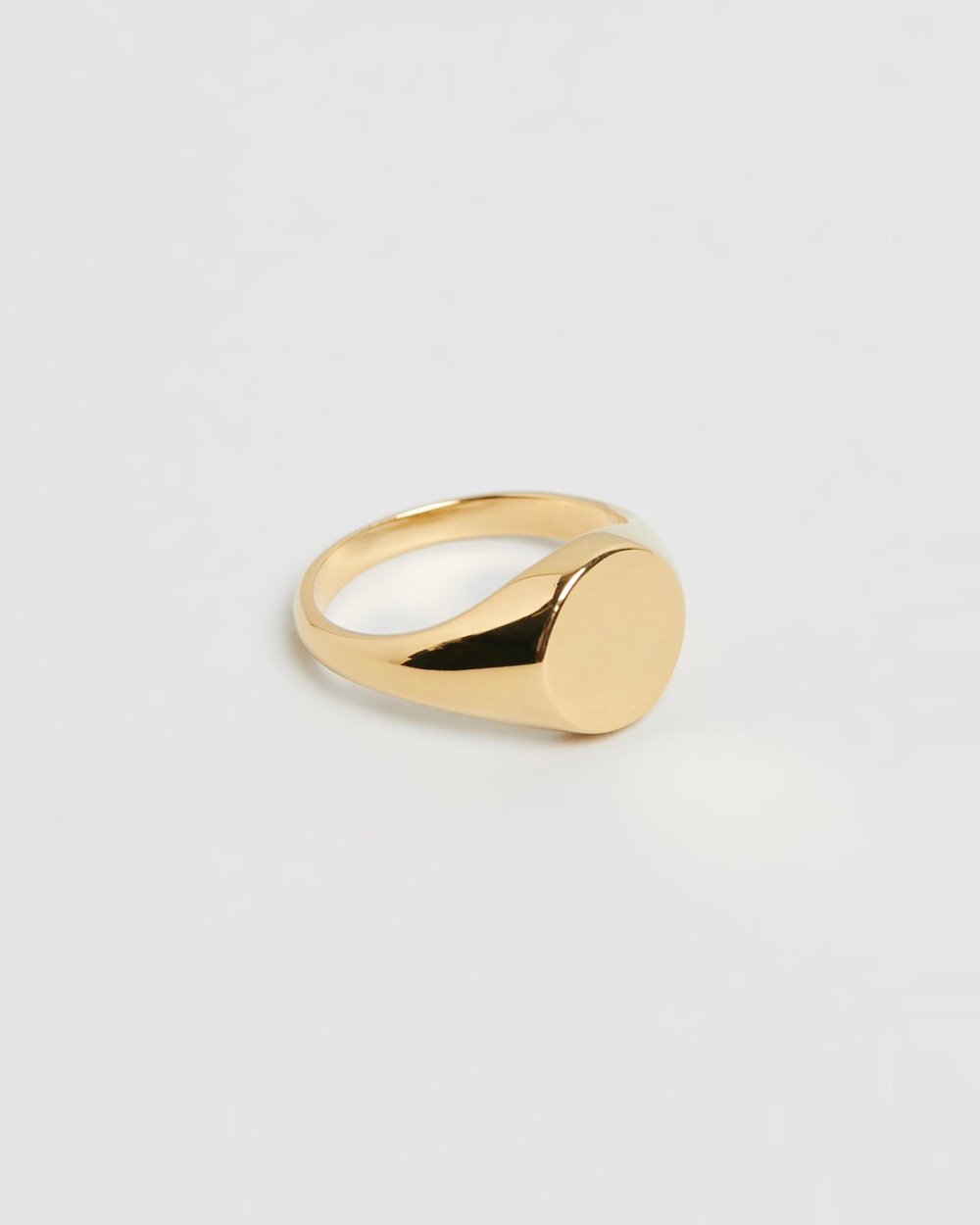 Meadowlark Sunset Signet Ring Jewellery Gold Plated