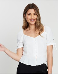Dorothy Perkins - Button-Down Milkmaid Top