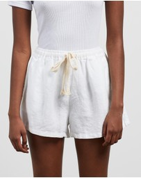 IN BED - 100% Linen Shorts
