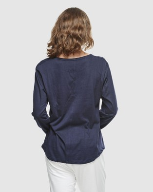 Cloth & Co. Organic Cotton Crew Neck Long Sleeve - T-Shirts & Singlets (French Navy)