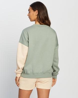 Missguided Co Ord  Colour Block Sweatshirt - Sweats (Sage)
