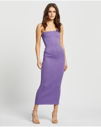 Bec + Bridge - Adalane Asymmetric Knit Midi Dress