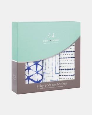 Aden & Anais - Silky Soft Swaddles 3 Pack - Sleep & Swaddles (Indigo Shibori) Silky Soft Swaddles 3-Pack