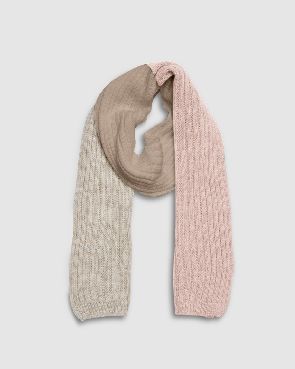 Kate & Confusion Block Scarf Scarves Gloves Pink