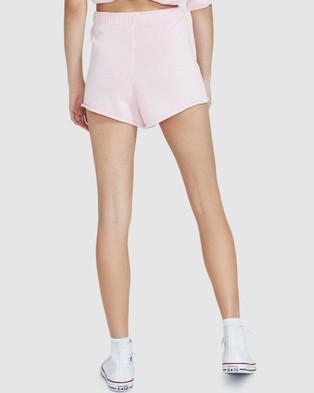 Subtitled Rex Knit Shorts - Shorts (PINK)