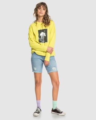 Quiksilver Quiksilver Womens Boxy Long Sleeve T Shirt - Long Sleeve T-Shirts (BUTTERCUP)