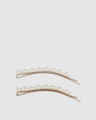 Morgan & Taylor Giordana Hair Clip Set of 2 - Hair Accessories (White)