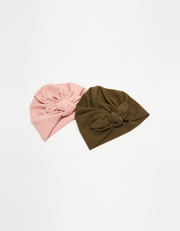 ArchNOllie - Ripple Bow Turban 2-Pack - Babies
