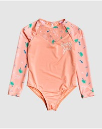 Roxy - Girls 2-7 Salty But Sweet Long Sleeve UPF 50 Onesie