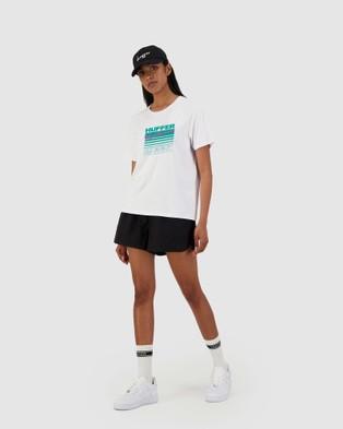 Huffer Women's Chloe Tee Keep Cool - T-Shirts & Singlets (White)