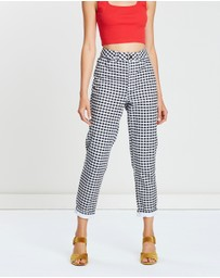 TOPSHOP - Gingham Mom Jeans