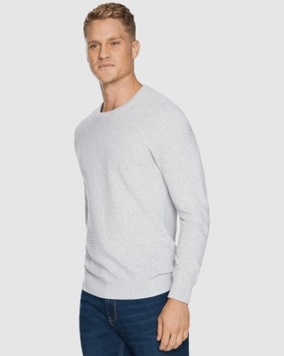 Tarocash Samuel  Textured Knit - Jumpers & Cardigans (ICE)