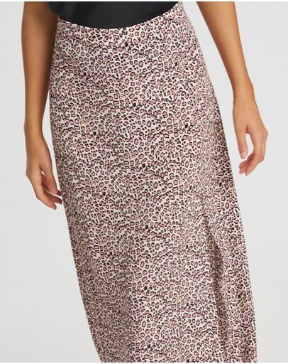 Calli Margot Midi Skirt Pink Leopard