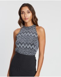 Oasis - Mini Zigzag Halter Top
