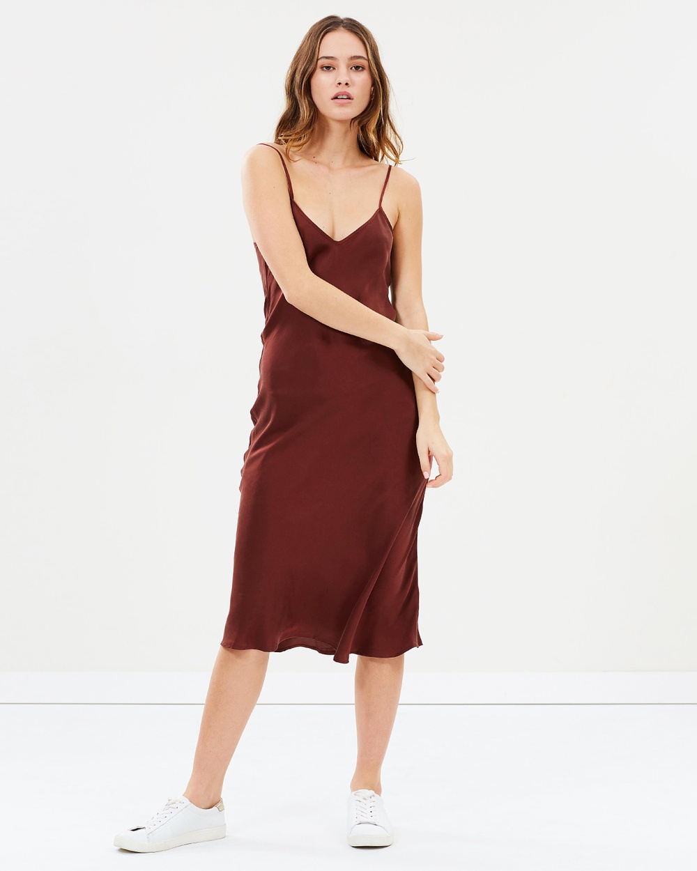 Silk Laundry 90s Silk Slip Dress Dresses Plum 90s Silk Slip Dress