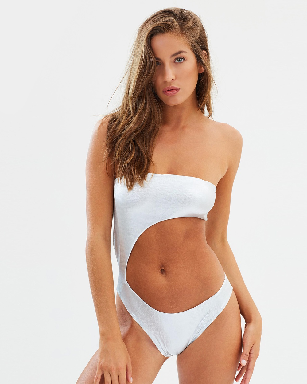 Lioness The Adriana One Piece One-Piece / Swimsuit Silver Metallic The Adriana One-Piece