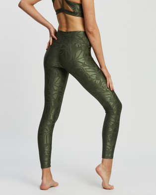 Liquido Active In The Waves Leggings - 7/8 Tights (Sage Leaves)