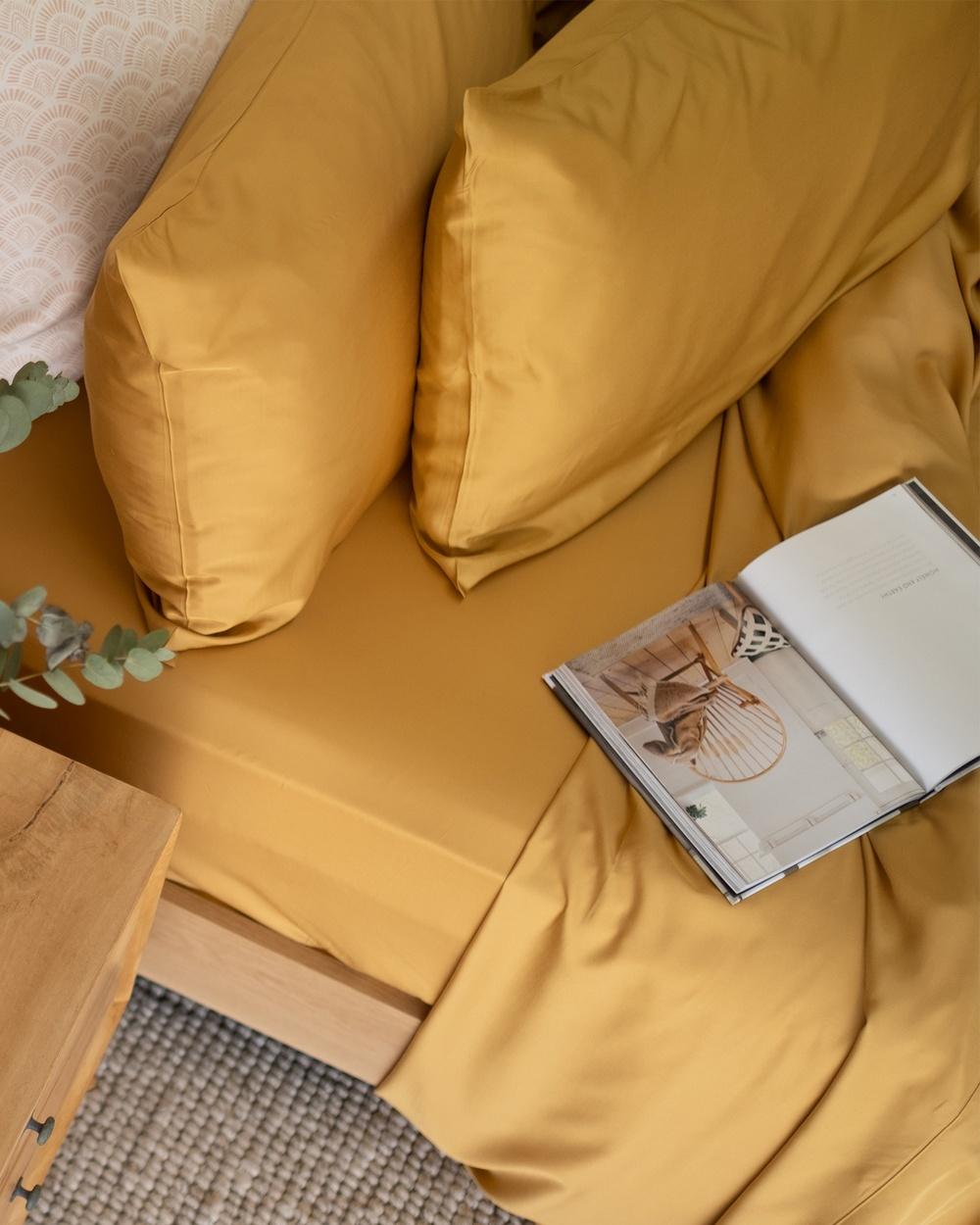 Mulberry Threads 100% Organic Bamboo Sheet Set Home Gold Australia