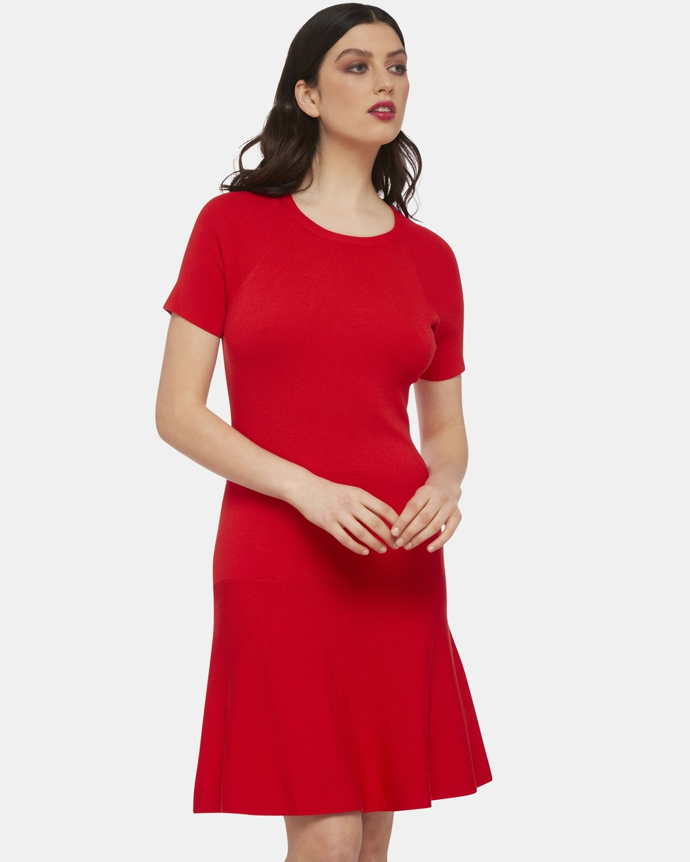 Oxford Red Marissa Knitted Dress