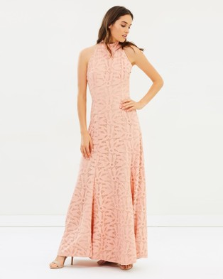 Cooper St – Lady Of Venice High Neck Gown – Bridesmaid Dresses Cosmetic Pink