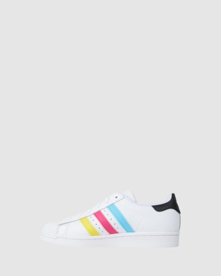 adidas Originals Superstar Foundation II Grade School - Sneakers (White/Green/Black)