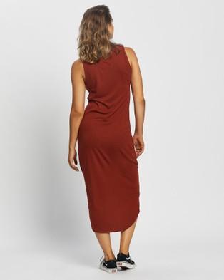 Silent Theory Twisted Maxi Tank Dress - Dresses (Rust)