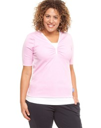 Curvy Chic Sports - Double Tee