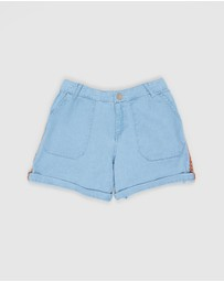 Carrément Beau - Denim Shorts - Kids-Teens