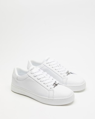 Calvin Klein Jeans - Cupsole Leather Lace Up Sneakers (Bright White)
