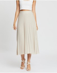Boohoo - Metallic Pleated Midi Skirt