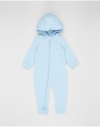 Purebaby - Quilted Zip Growsuit - Babies