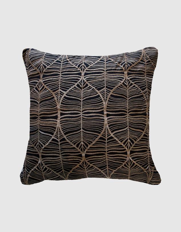Life Rake Leaf Black Lounge Cushion