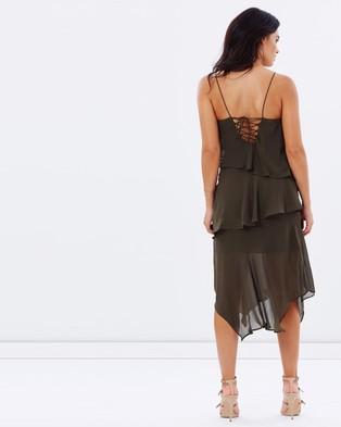 Cooper St – Mindfall Midi Dress – Dresses (Khaki)