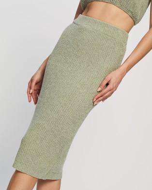Atmos&Here Venice Knit Skirt - Pencil skirts (Mint)