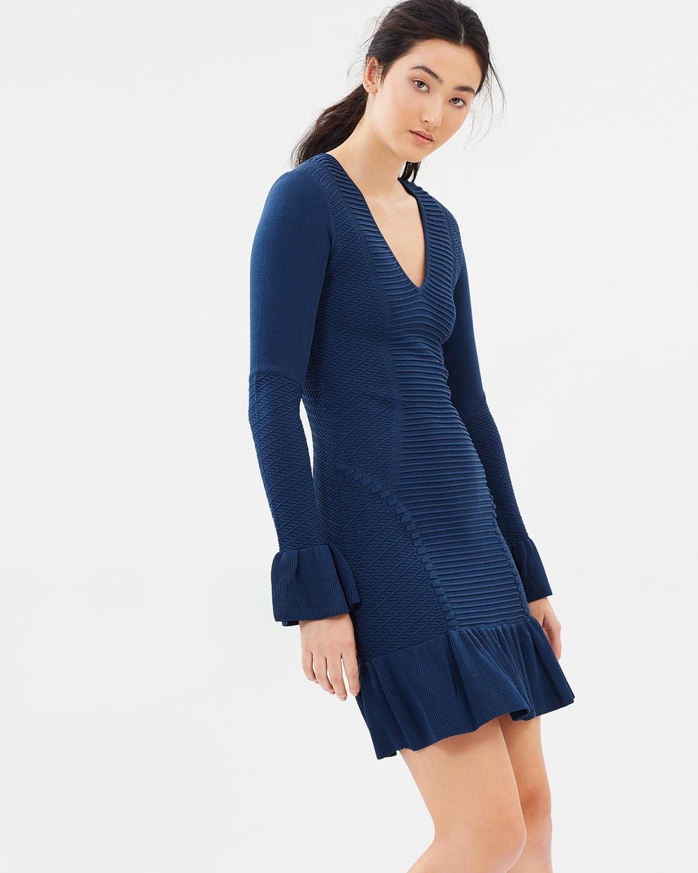 Rebecca Vallance Indigo Ionian Long Sleeve Dress