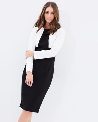 Pink Ruby – Atomic Long Sleeve Dress Black & White