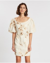 Shona Joy - Sundance Off-The-Shoulder Fitted Mini Dress