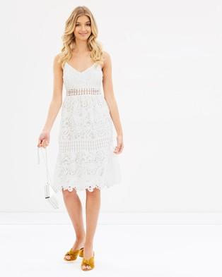 Atmos & Here – Paula Lace Dress White
