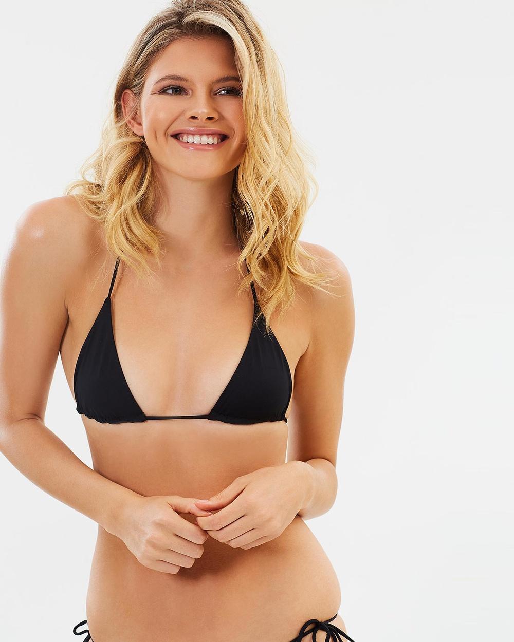 Bond-Eye Swimwear Rebel Ties Triangle Bikini Tops Black Rebel Ties Triangle