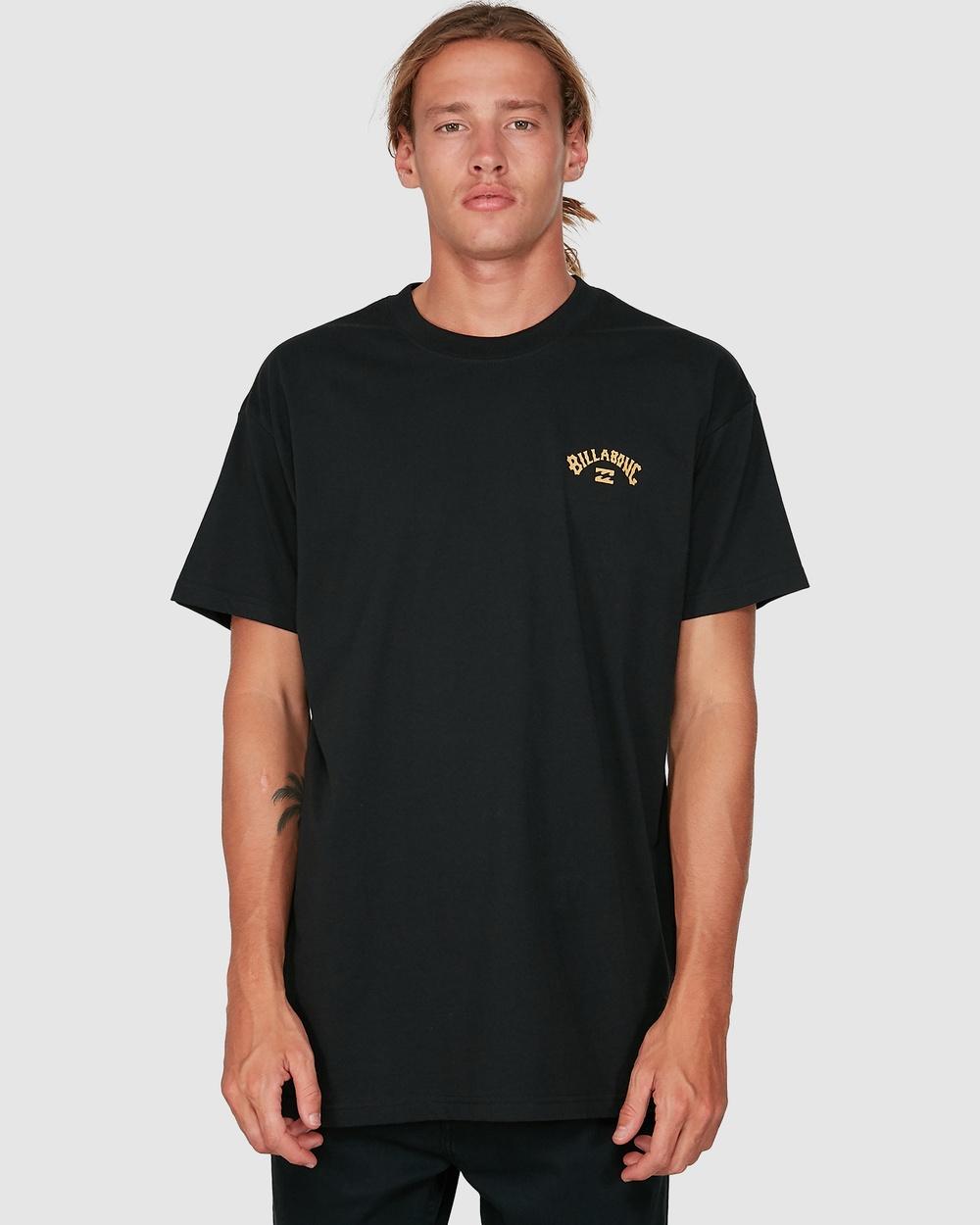 Billabong - Wave Arch Short Sleeve Tee - T-Shirts & Singlets (BLACK) Wave Arch Short Sleeve Tee