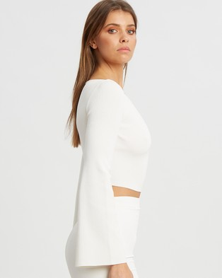 BWLDR Wave Crop Knit - Cropped tops (White)