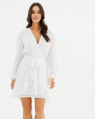 Fresh Soul – Bon Bon Tie Dress White